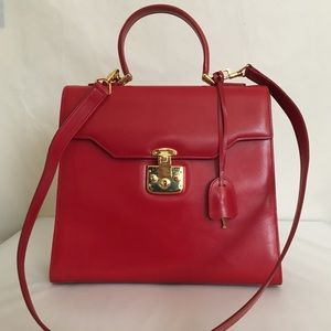 Gucci Vintage Large Kelly Top Handle Bag